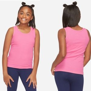 NWT Justice Pink Ribbed Tank Top Size 6